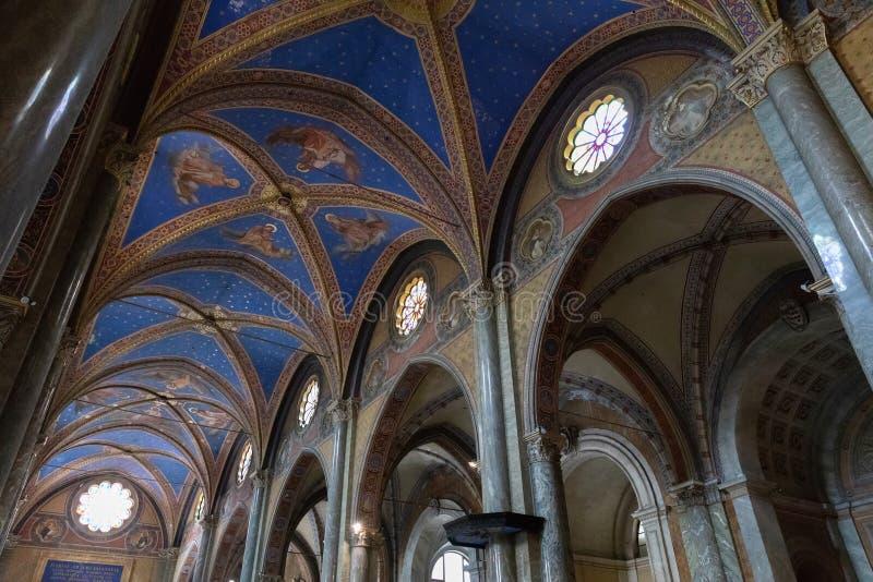 Panorama van binnenland van Santa Maria-sopra Minerva royalty-vrije stock afbeelding