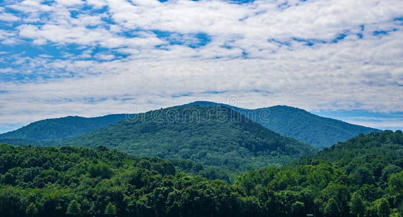 Panorama van Blauw Ridge Mountains van Virginia, de V.S. stock afbeeldingen