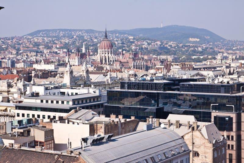 Panorama van Boedapest, Hongarije stock afbeelding