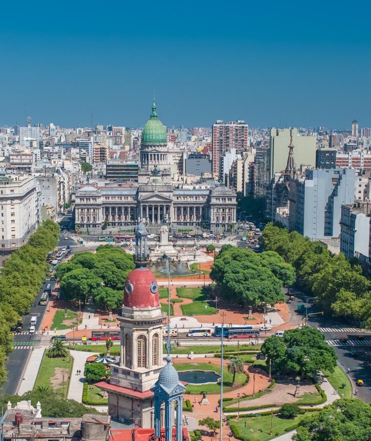 Panorama van Buenos aires, Argentinië stock foto's