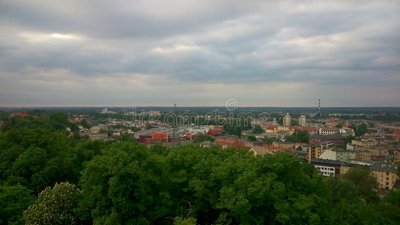 Panorama van Bydgoszcz royalty-vrije stock foto's