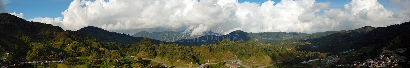 Panorama van Cameron Highlands in Maleisië stock foto's