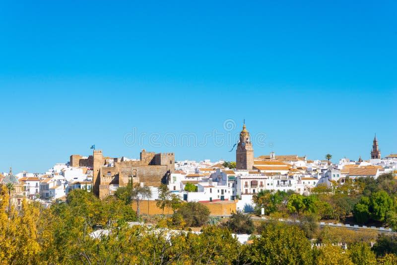Panorama van Carmona stock foto's