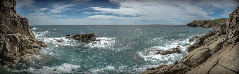 Panorama van Cornwall kust Engeland stock fotografie