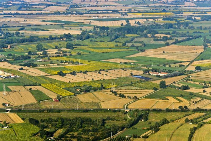 Panorama van Cortona stock foto's