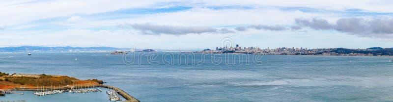 Panorama van de Baai van San Francisco royalty-vrije stock foto's