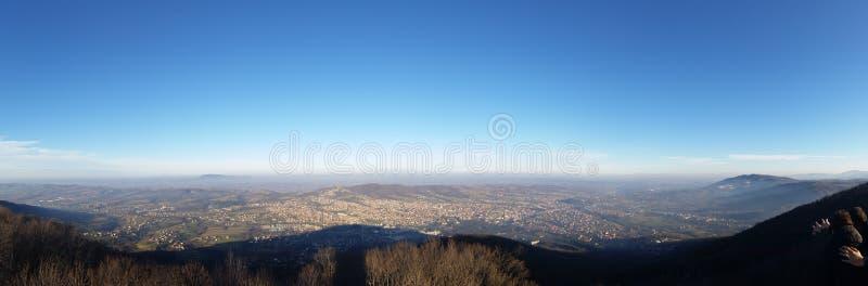 panorama van de berg stock foto's