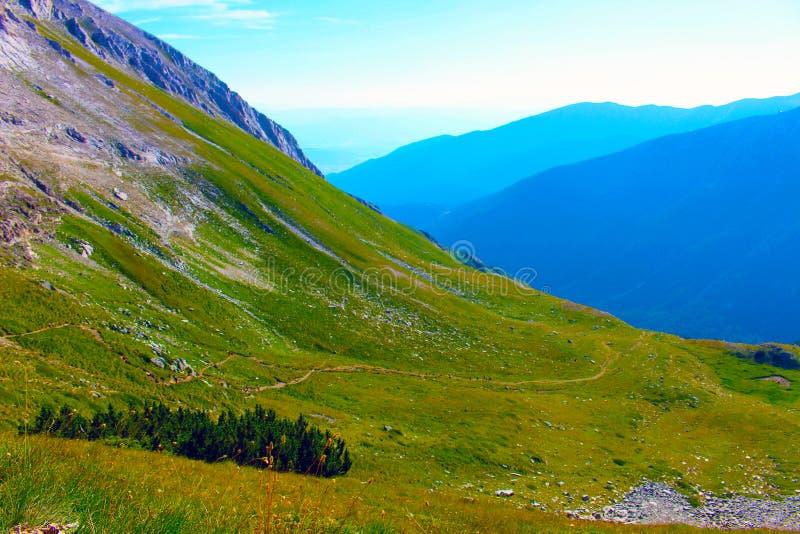Panorama van de Bergketen van het westen zij Bulgaarse Pirin stock fotografie