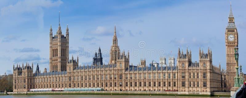 Panorama van de Big Ben Londen stock foto