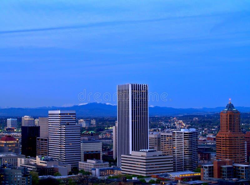 Panorama van de binnenstad 2 van Portland stock fotografie