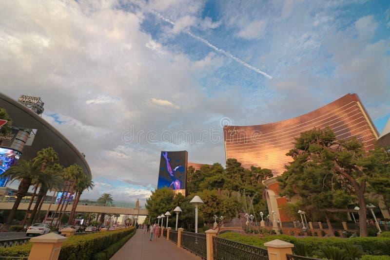 Panorama van de Boulevard van Las Vegas de Strook royalty-vrije stock afbeelding