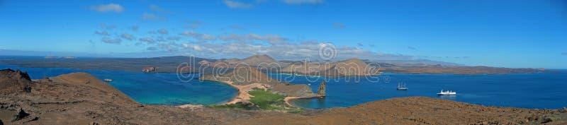 Panorama van de Galapagos stock foto