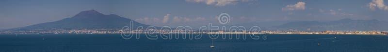 Panorama van de Golf van Napels royalty-vrije stock foto's
