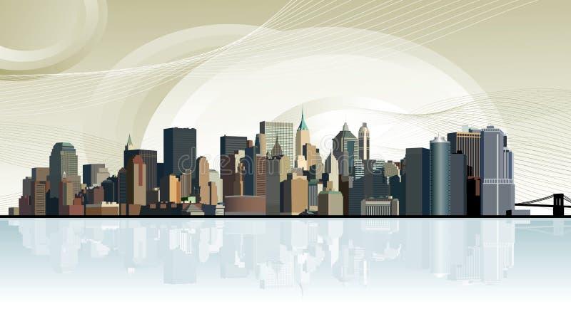 Panorama van de grote stad royalty-vrije illustratie