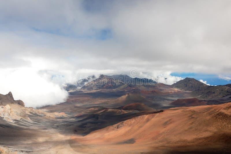Panorama van de Haleakala-krater royalty-vrije stock foto
