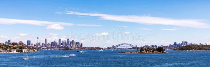 Panorama van de horizon van Sydney royalty-vrije stock afbeelding