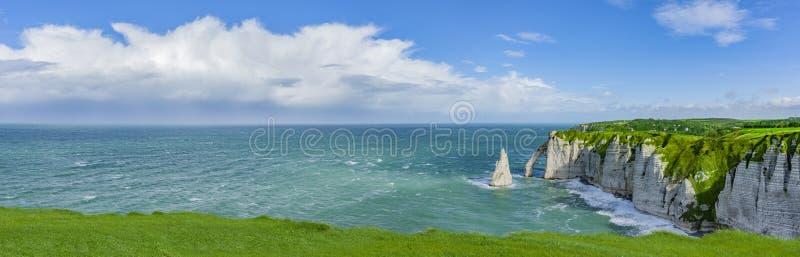 Panorama van de Klippen van Normandië royalty-vrije stock afbeelding