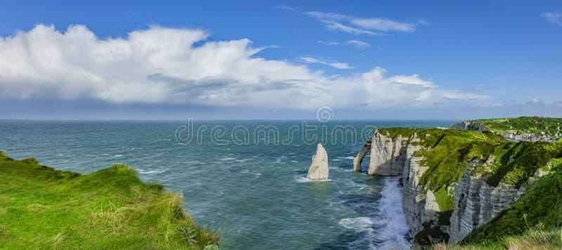 Panorama van de Klippen van Normandië royalty-vrije stock fotografie