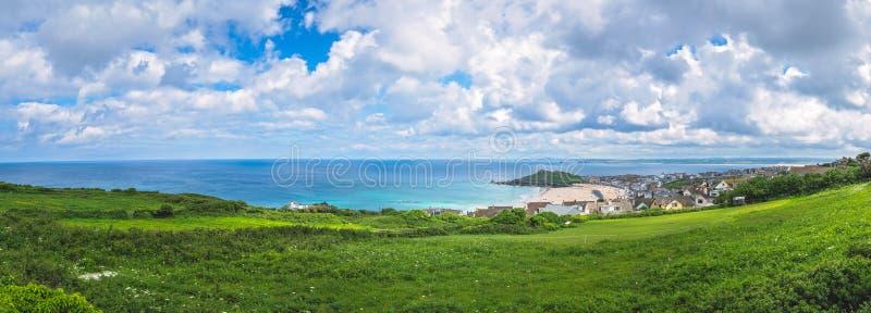 Panorama van de kust Van Cornwall in St Ives royalty-vrije stock fotografie