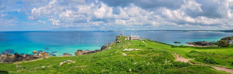 Panorama van de kust Van Cornwall in St Ives royalty-vrije stock foto