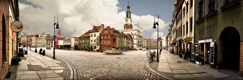 Panorama van de Markt van Poznan royalty-vrije stock foto