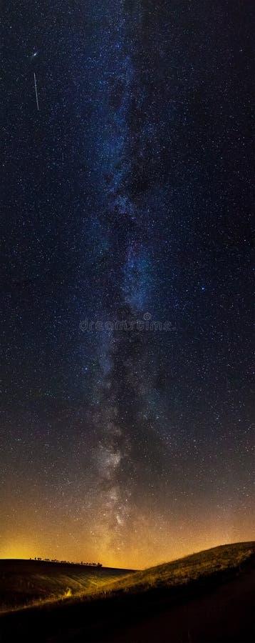 Panorama van de Melkweg royalty-vrije stock afbeeldingen