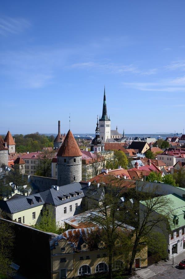 Panorama van de middeleeuwse stad royalty-vrije stock fotografie