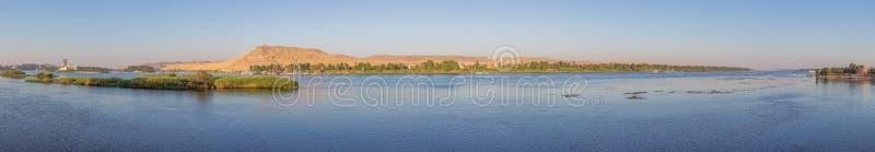 Panorama van de Nijl in Aswan royalty-vrije stock foto's