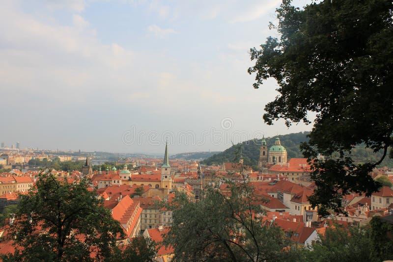 Panorama van de oude stad van Praag, Tsjechische Republiek stock afbeeldingen
