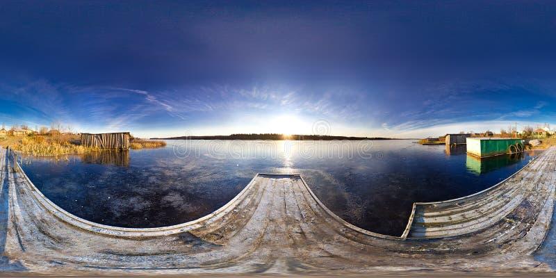 Panorama van de rivier royalty-vrije stock afbeelding
