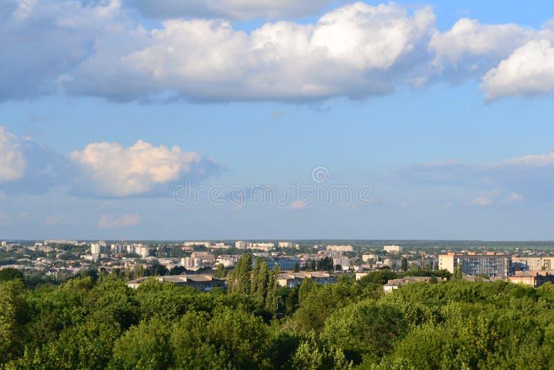 Panorama van de stad royalty-vrije stock afbeelding