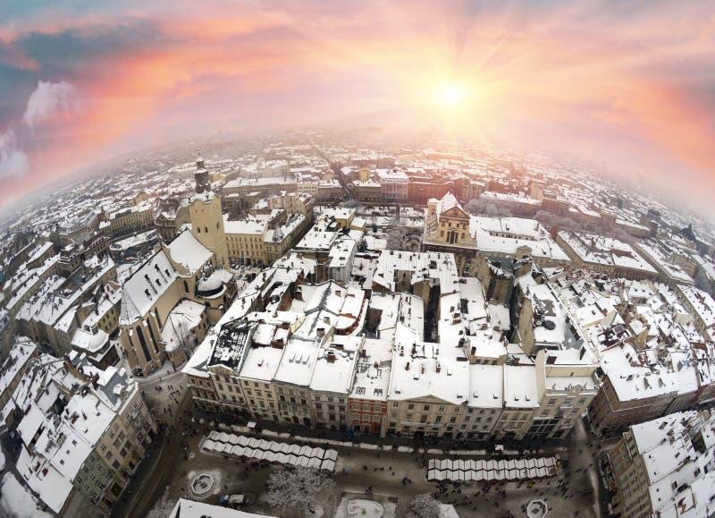 Panorama van de stad stock foto's