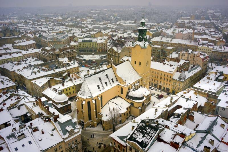 Panorama van de stad stock foto
