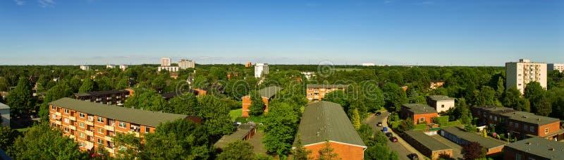 Panorama van de stad stock fotografie