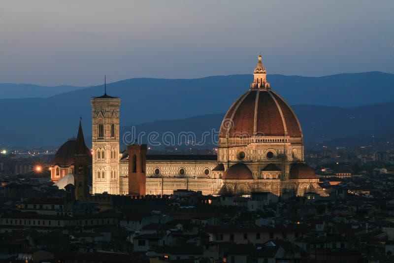 Panorama van de stad Di Santa Maria del Fiore van La Cattedrale royalty-vrije stock fotografie