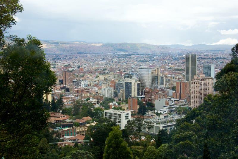 Panorama van de stad van Bogota Colombia royalty-vrije stock foto