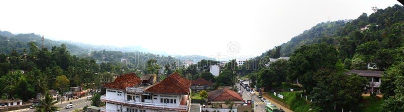 Panorama van de stad van Kandy stock fotografie