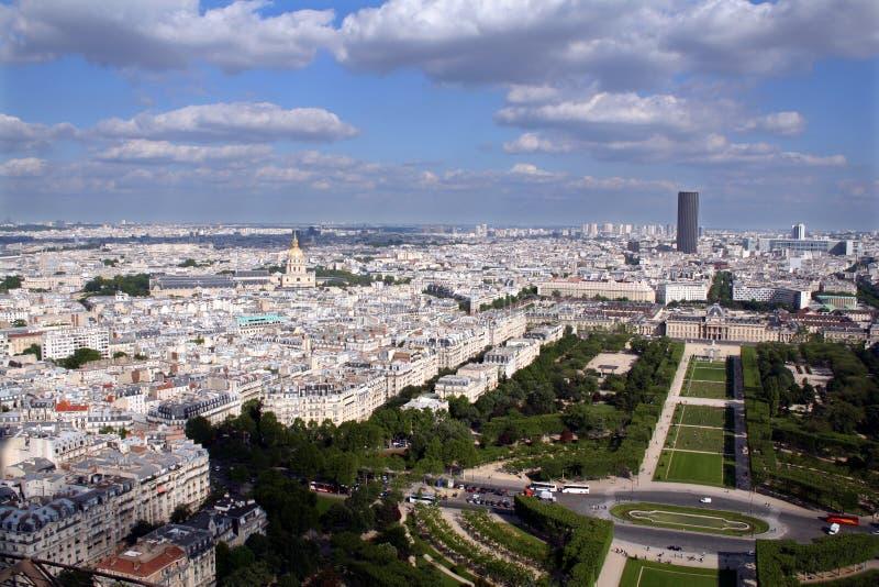 Panorama van de stad van Parijs, Frankrijk stock fotografie