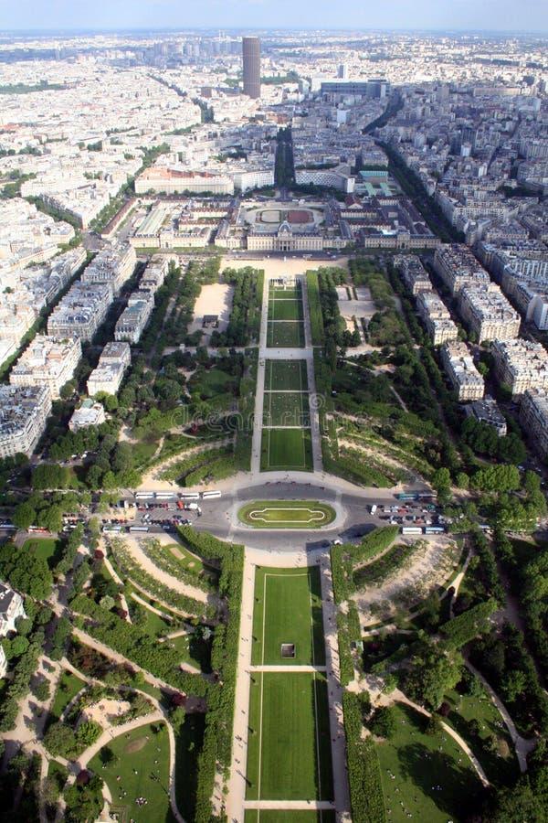 Panorama van de stad van Parijs, Frankrijk stock foto
