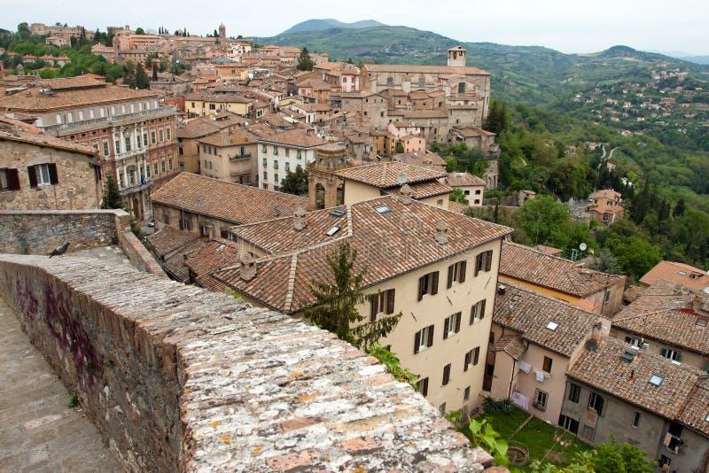 Panorama van de stad van Perugia royalty-vrije stock fotografie