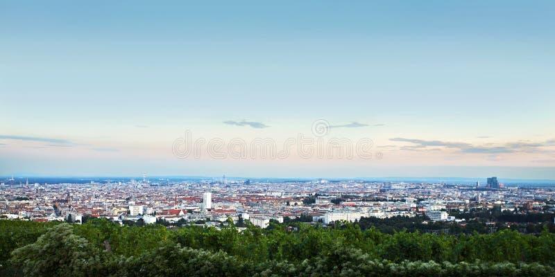 Panorama van de stad van Wenen oostenrijk stock afbeeldingen