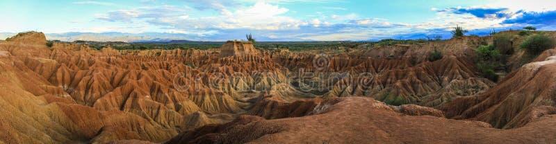 Panorama van de Tatacoa-Woestijn, Colombia royalty-vrije stock foto's