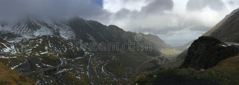Panorama van de Transfagarasan-bergweg stock fotografie