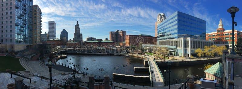 Panorama van de Voorzienigheid van de binnenstad, Rhode Island royalty-vrije stock foto