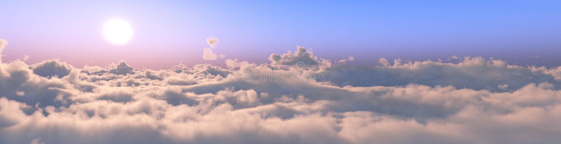 Panorama van de wolken stock fotografie