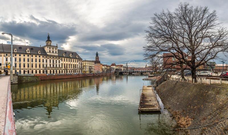 Panorama van de Wroclaw het oude stad royalty-vrije stock afbeelding