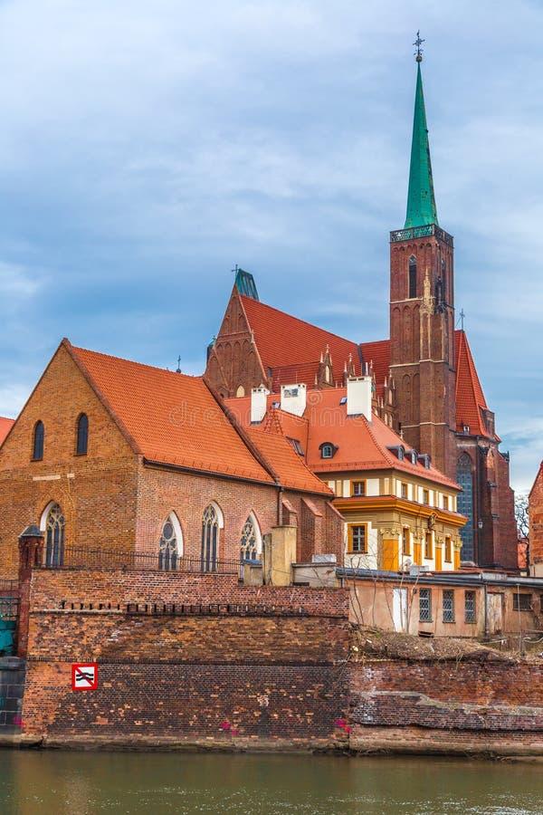 Panorama van de Wroclaw het oude stad royalty-vrije stock foto