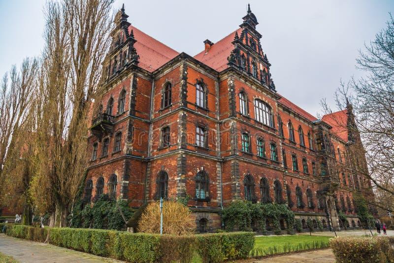 Panorama van de Wroclaw het oude stad royalty-vrije stock fotografie