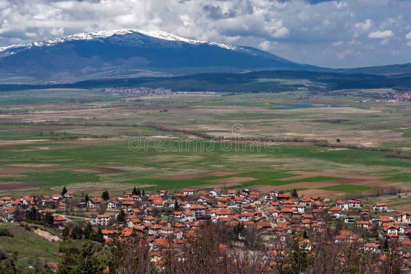 Panorama van dorp Belchin, Sofia Province royalty-vrije stock foto