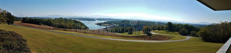 Panorama van Douglas Dam Tennessee royalty-vrije stock afbeelding